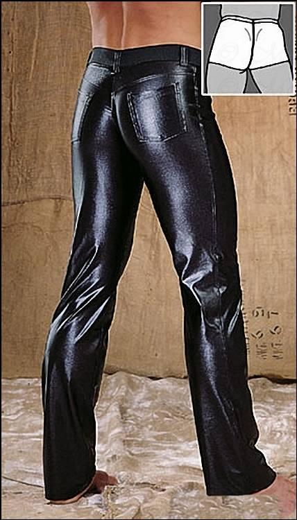 scharfe wetlook kontur jeans schwarz gl nzend. Black Bedroom Furniture Sets. Home Design Ideas