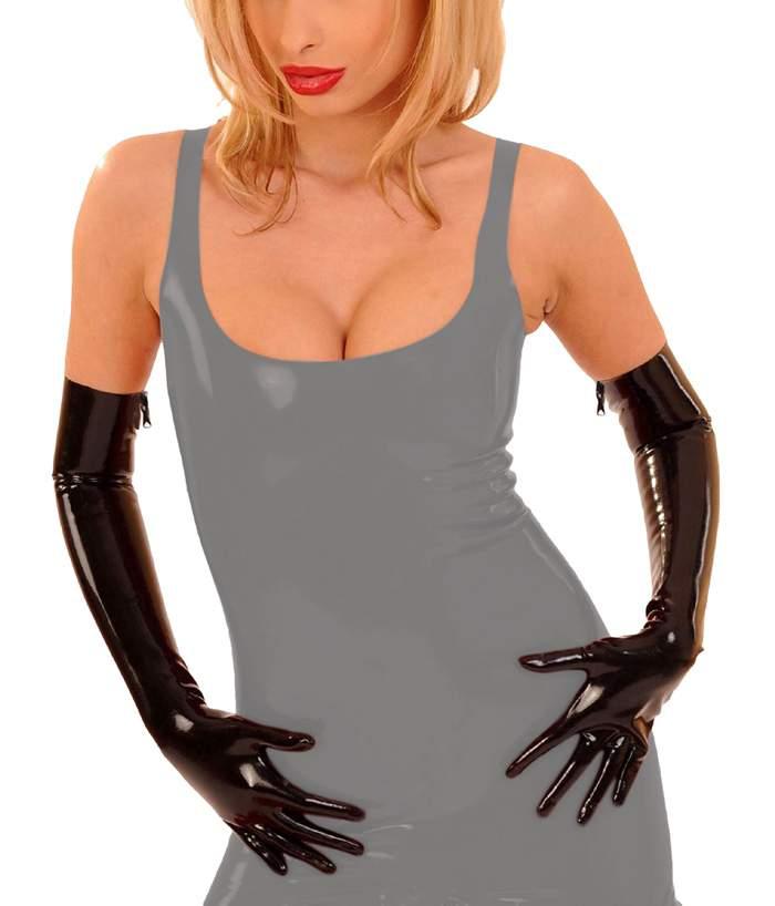 anita berg lange latex handschuhe gloves mit zip in diversen farben ebay. Black Bedroom Furniture Sets. Home Design Ideas