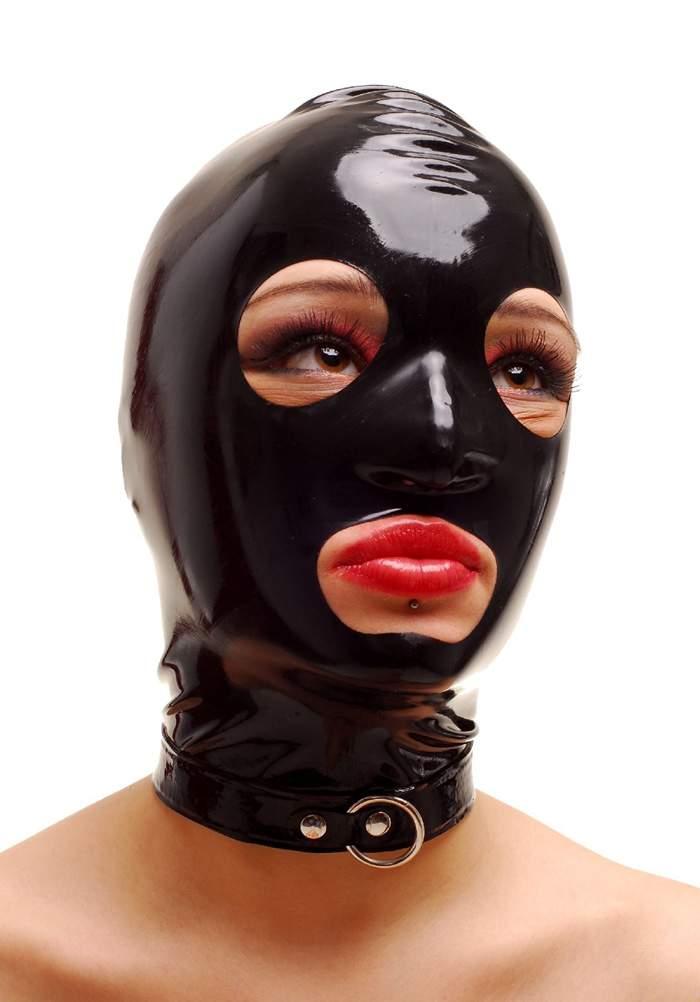 anita berg ausgefallende latex zip kopfmaske in diversen farben ebay. Black Bedroom Furniture Sets. Home Design Ideas