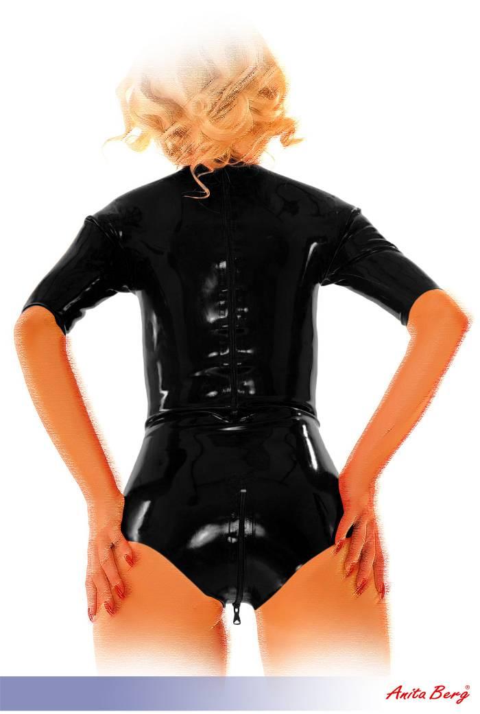 s anita berg latex stehkragen kurzarm body mit zip in diversen farben ebay. Black Bedroom Furniture Sets. Home Design Ideas