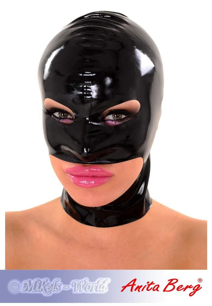 anita berg latex kopfmaske mit augen mund kinn ffnung in diversen farben ebay. Black Bedroom Furniture Sets. Home Design Ideas