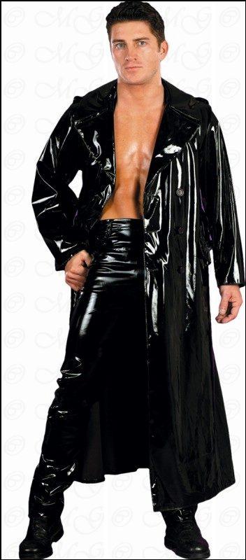 Details about Matrix Gothic Paint CoatRain Coat Black show original title